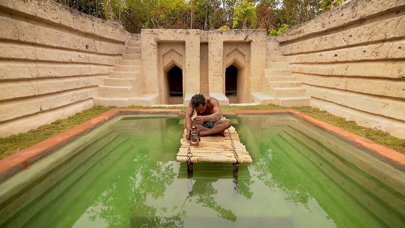 60 Days Build Millionaire Underground Swimming Pool House