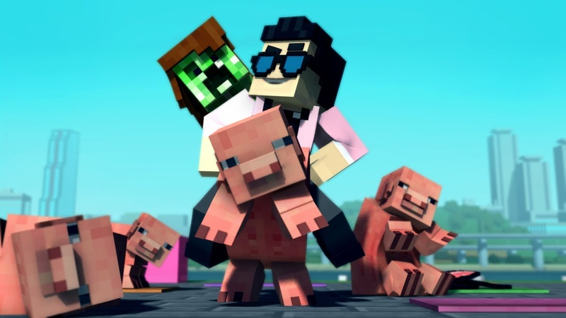 Minecraft Style A Parody of PSY's Gangnam Style Music Video