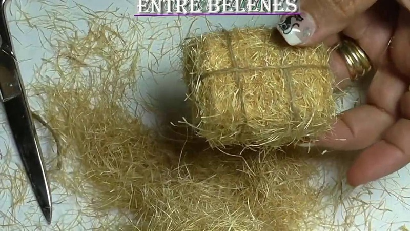 Como hacer musgo hierva para el belen