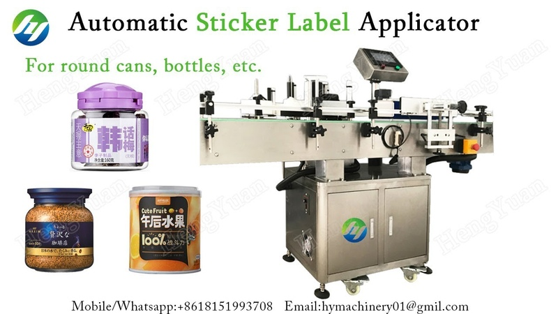 Automatic Sticker Label Applicator for Round Empty Plastic Jar Labeling Machine