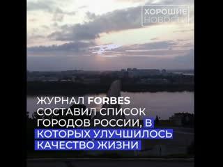 Forbes составили список городов России, в которых улучшилось качество жизни