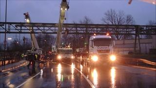 Liebherr Mobilkran - Abriss Brücke -  4 Stunden in 10 Minuten