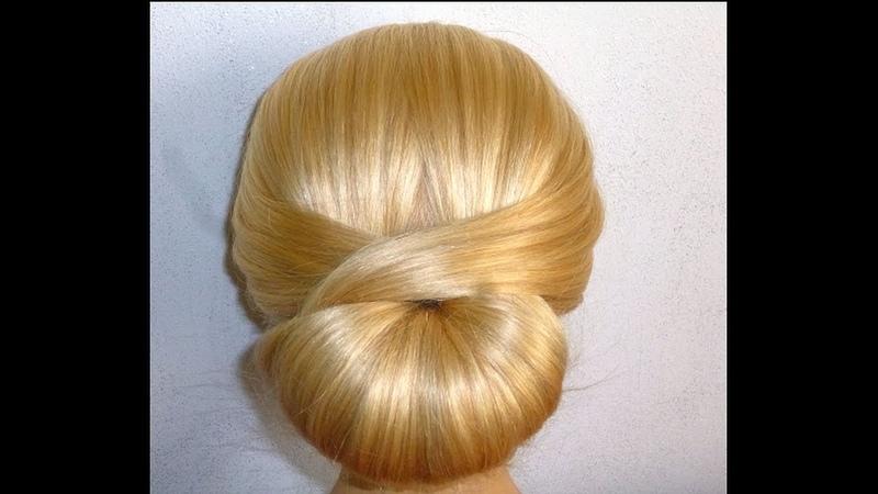 Шикарно, быстро, просто Причёска для средних/длинных волос самой себе за 5 минут