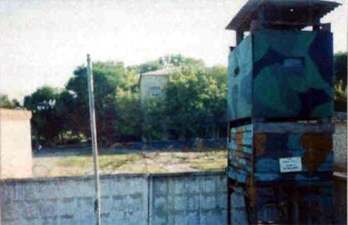 Вид с территории части на школу № 7
