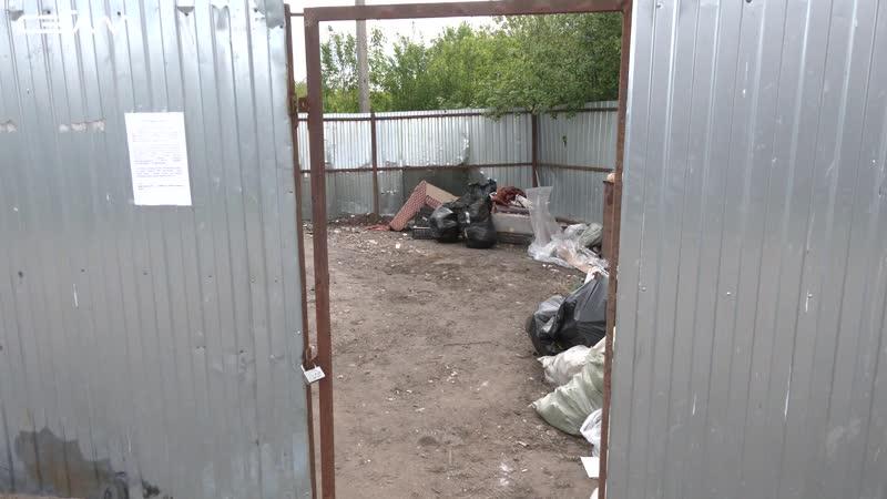На ул 2 й Щигровской в Курске местные жители не поделили мусорку