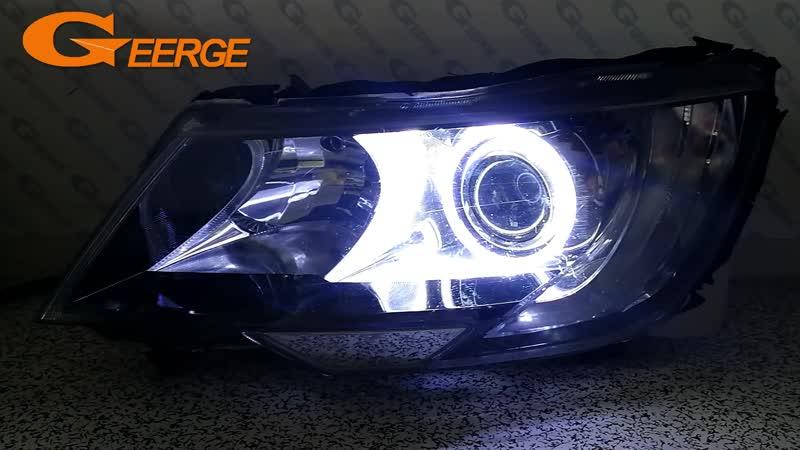 For SKODA SUPERB 2 II FACELIFT 2013 2014 2015 headlight Excellent angel eyes Ultra bright illumination COB led angel eyes kit