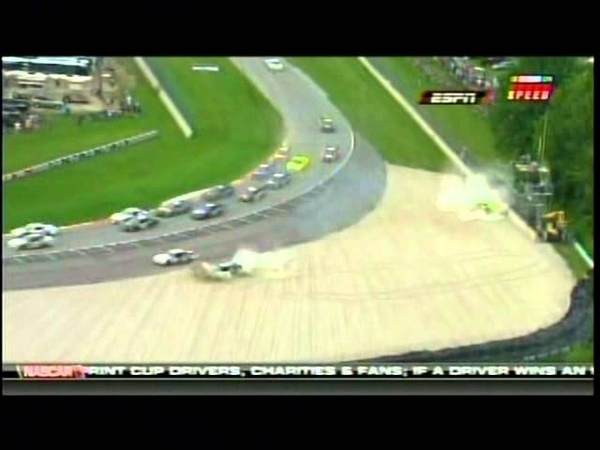 Jaques Villeneuve Takes Out Max Papis and Brian Scott NNS Bucyrus 200 Road America