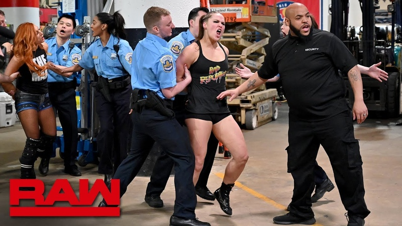 Ronda Rousey Becky Lynch and Charlotte Flair are arrested Raw April 1 2019