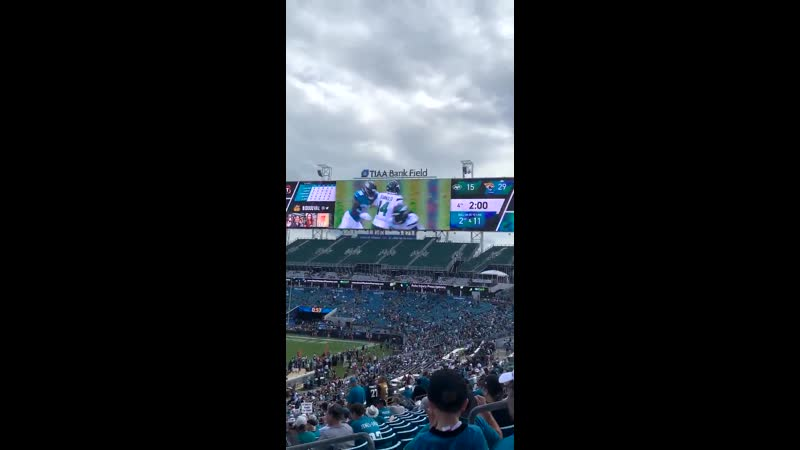 The Jaguars are playing Ghostbusters over a Sam Darnold blooper reel.