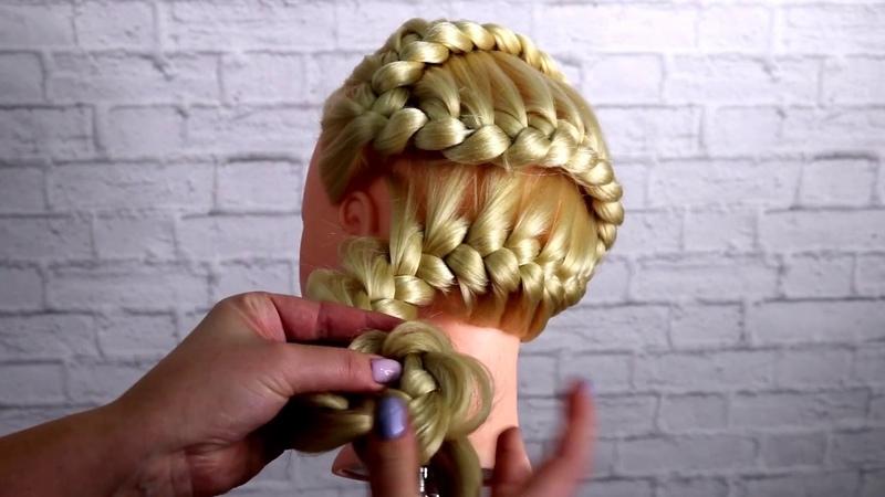 Простые косы Урок плетения кос Зигзаг