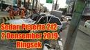JGNEWS -Sedan Peserta Reuni 212 Ringsek Tabrak Separator Busway