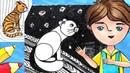 Как нарисовать кошку Урок рисования для детей 5 8 лет
