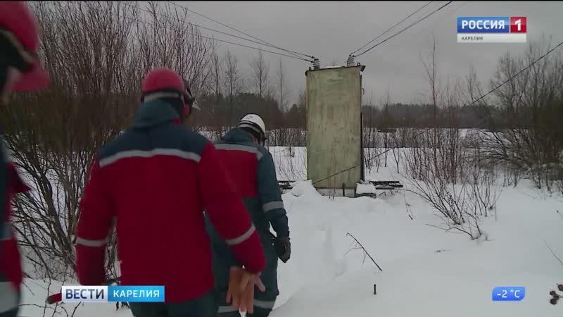 Электроснабжение в Пряжинском районе восстановлено