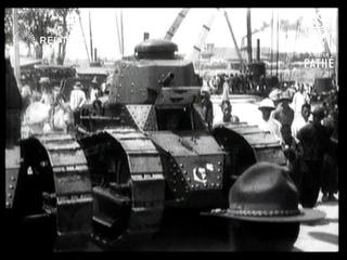 CHINA: Tanks arrive in Peking to guard US allies (1927)