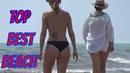 SPANISH TOPLESS BEACH Lovely Girls in Bikini Relaxing Summer Video Sun sea