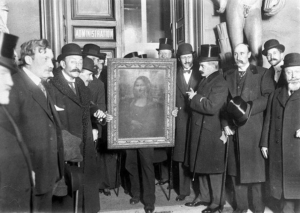 Возвращение «Моны Лизы» в Лувр три года спустя после кражи, 1914 год.