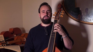 Viola da Gamba Tutorial No. 7: Left hand & arm position.