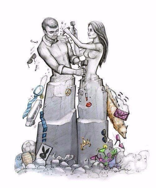 Истинныe любящие помогают друг другу построить себя