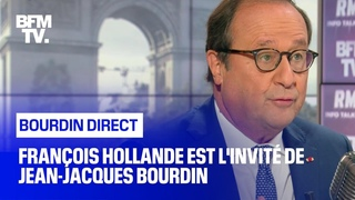 François Hollande face à Jean-Jacques Bourdin en direct