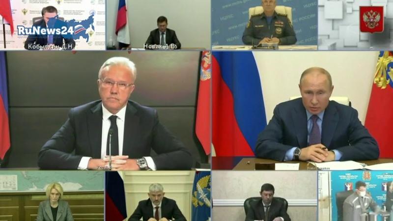 У вас там все в порядке со здоровьем Путин о запоздалом докладе по разливу топлива RuNews24
