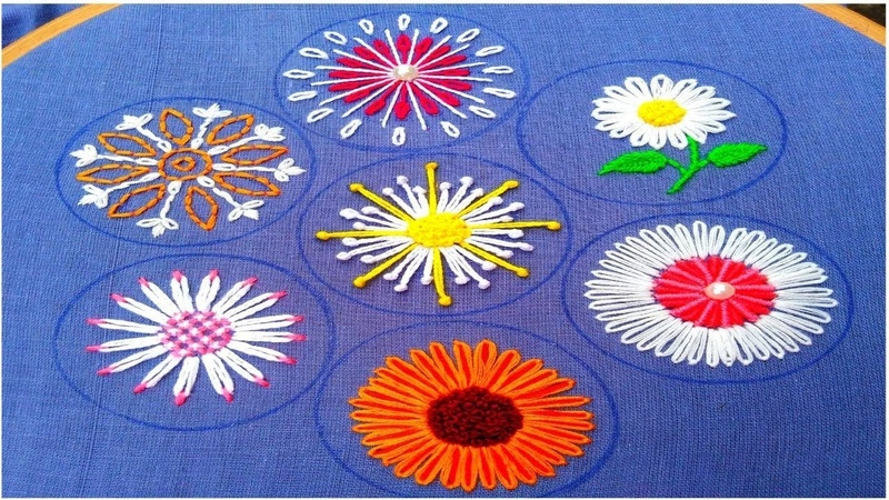 Extraordinary Hand Embroidery flower stitch,Exceptional All over hand Embroidery,हाथ की कढ़ाई