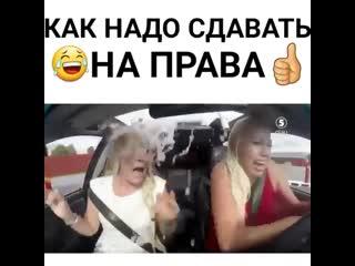 Как нужно сдавать на права))
