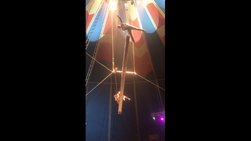 Воздушная гимнастика под куполом цирка, Автово