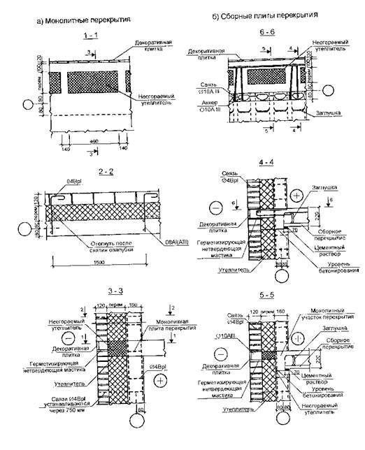 Наружные стены монолитных зданий