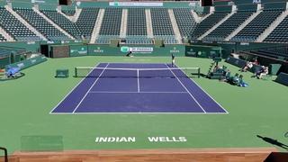 Rafael Nadal vs. Denis Shapovalov practice Indian Wells BNP Paribas Open 2020