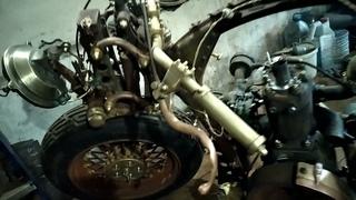 """Единственный в мире мотоцикл-времени """"СССР"""" Первый запуск мотора."""