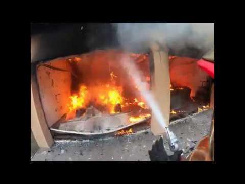 Выпуск 5 Пожар 01 09 2019 в гараже горит Tesla Model S и Nissan Leaf