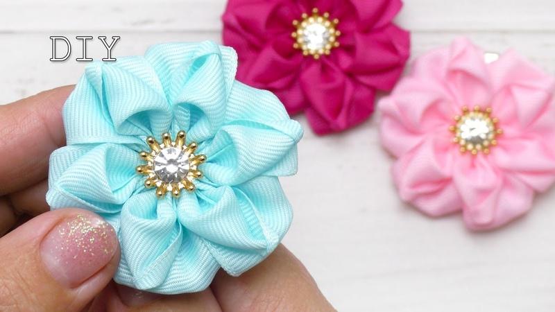 Цветы из репсовых лент / Amazing ribbon flower DIY