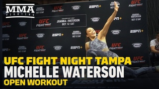 UFC Tampa: Michelle Waterson Open Workout Highlights - MMA Fighting