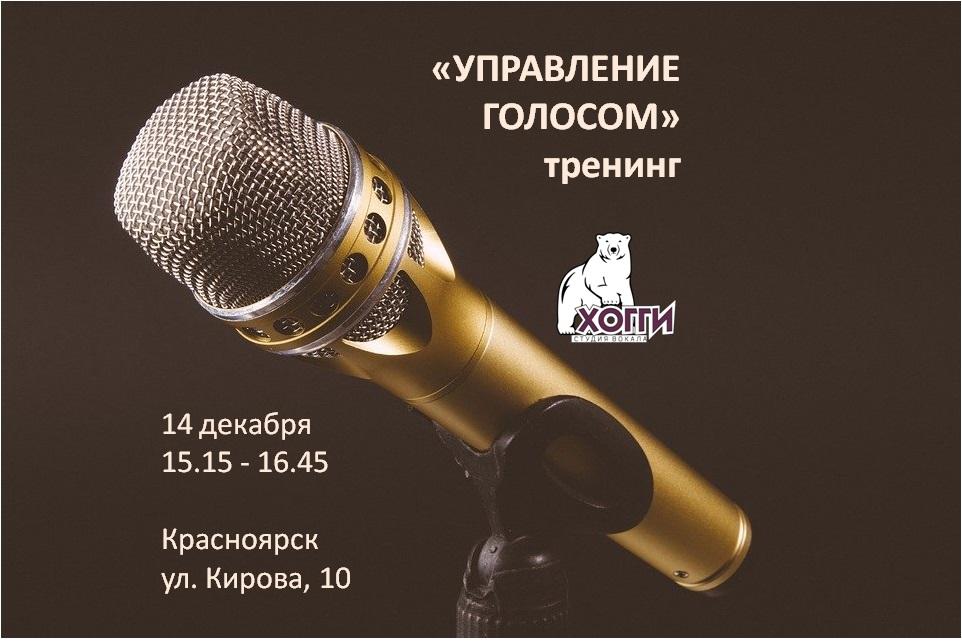 Афиша Красноярск Управление голосом: тренинг 14 дек, 15.15-16.45
