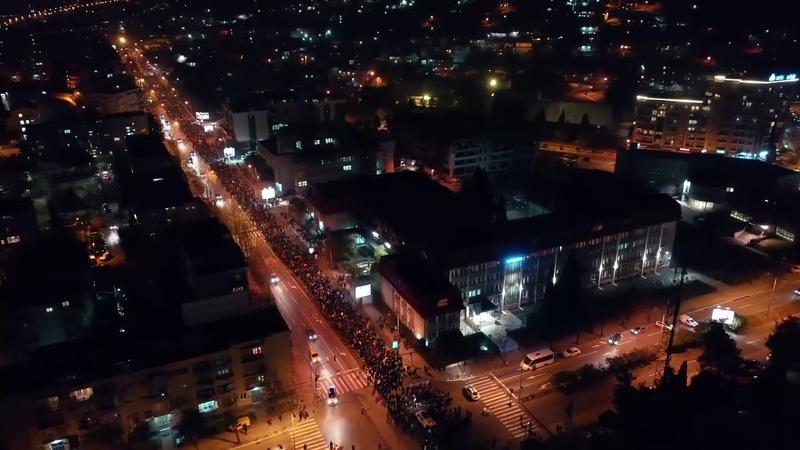 Молитвенное шествие в защиту Православия г Подгорица, Черногория 09 02 2020