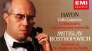 Haydn The Cello Concertos recording of the Century Mstislav Rostropovich Brown