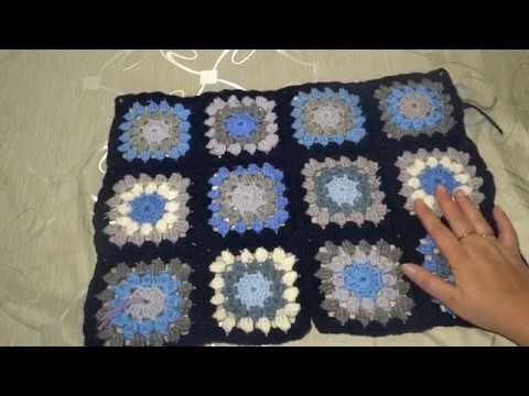 МК вязаное пальто крючком в технике бабушкин квадрат