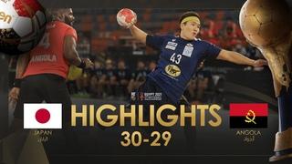 Highlights: Japan - Angola | Group Stage | 27th IHF Men's Handball World Championship | Egypt2021