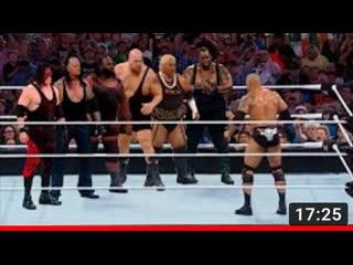 The Rock Defeats 6 Monsters ....Undertaker,Big Show,Kane,Mark Henry,Rikishi,Big Daddy V Match