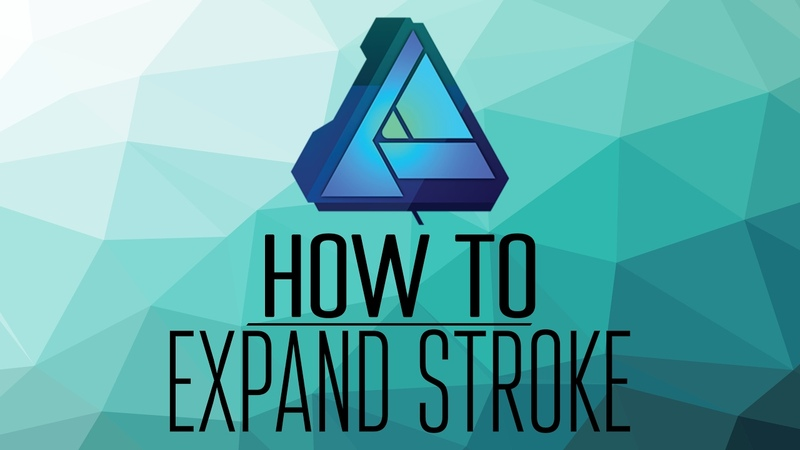 How to Expand Stroke in Affinity Designer