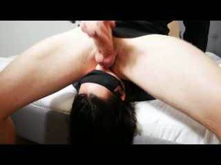She Licks his Ass and Balls and Swallow Cum - Submissive Girl
