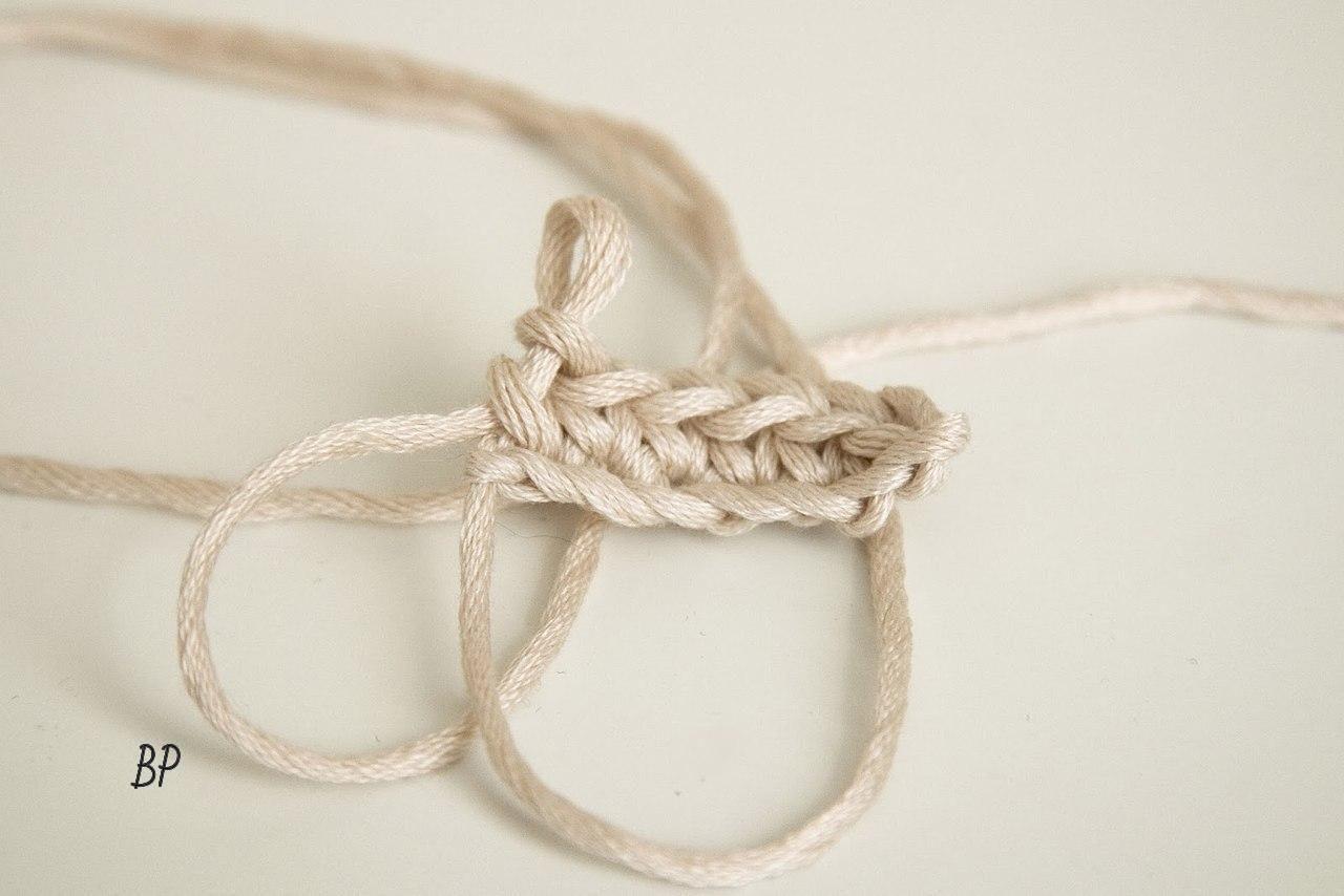 Вяжем крючком круглый прочный шнур