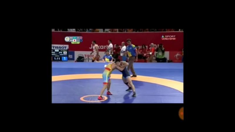 Өкінішке орай 77 кг салмақта Асхат Ділмұхамедов 14 финалда жапондық балуанға ұтылды