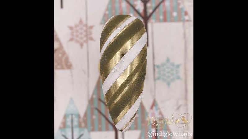 Дизайн ногтей к зимним праздникам
