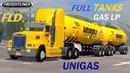 Freightliner Fld Tuning Mega Freno Motor Full GAS LP Unigas Tanks Subiendo Carretera