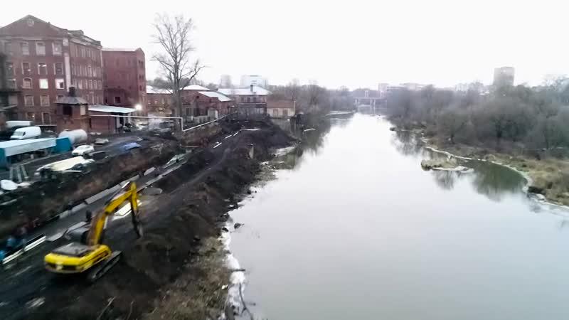 В Орехово-Зуеве на набережной от моста Саввы Морозова и до «парковского» моста кипят работы