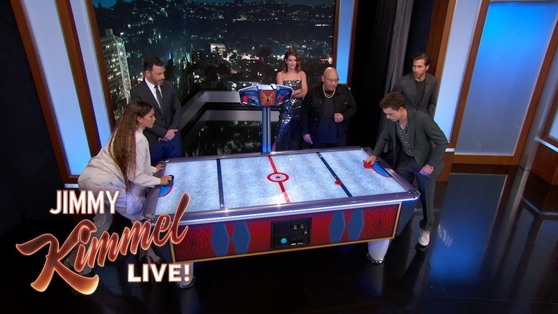 Spider Man Cast on Tom Summers Riley Archer's Air Hockey Rivalry