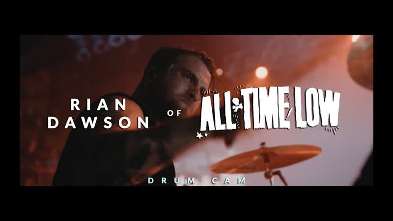 Rian Dawson of All Time Low (Runaways - Drum Cam)