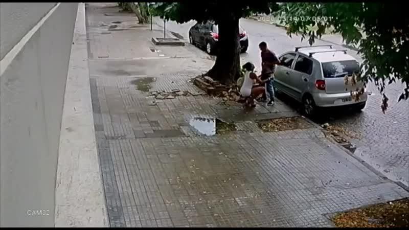 Nao pode nem receber um boquete na rua que e assaltado flagra 3541528