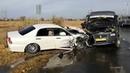 Авария под Волгоградом жестко столкнулись маршрутка, легковушка и автобус